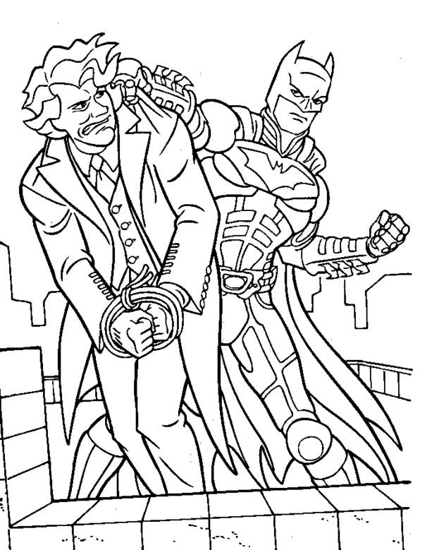 613x779 Joker Coloring Pages