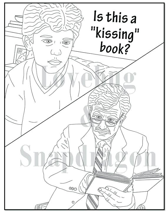 The Kissing Hand Coloring Pages