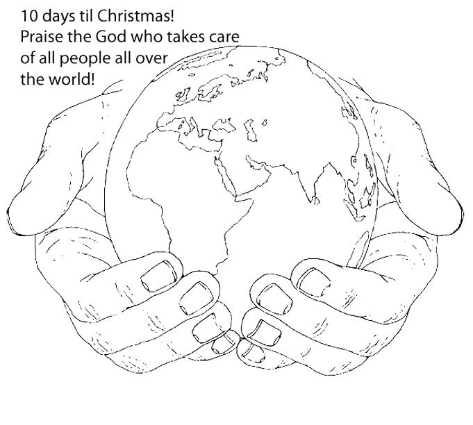 681x612 Kissing Hand Coloring Pages World In His Hands Coloring Page