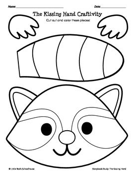 The Kissing Hand Coloring Pages at GetDrawings.com | Free for ...