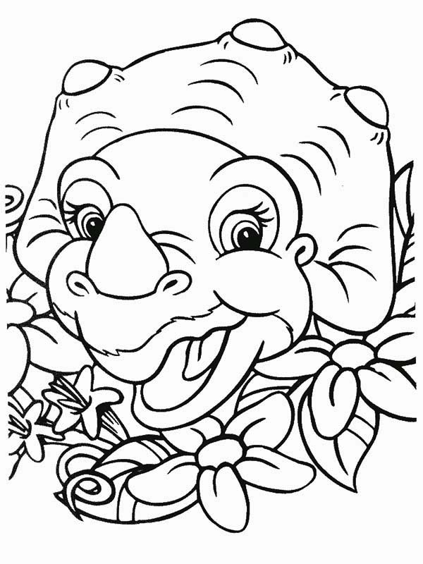 600x800 Cera Laugh Land Before Time Coloring Page