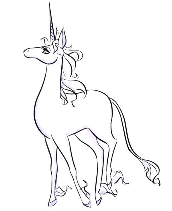 600x736 Plus The Last Unicorn Unicorn Coloring Pages For Year Olds