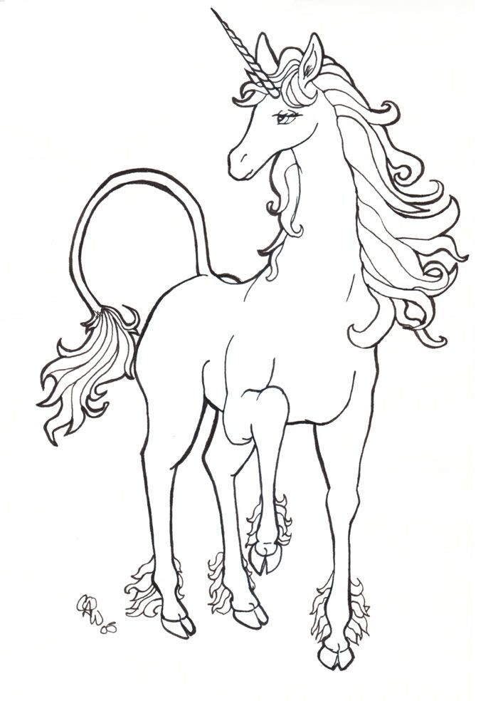 700x984 The Last Unicorn Coloring Pages