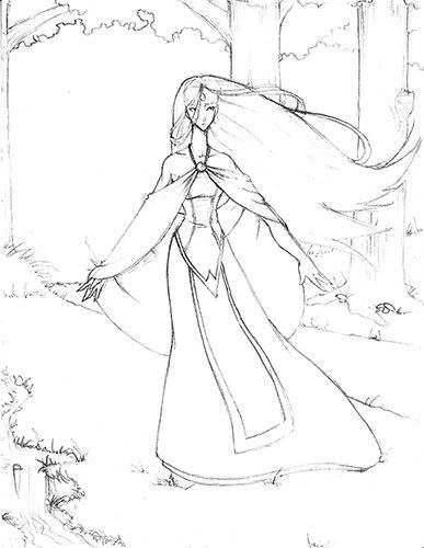 387x500 The Last Unicorn Coloring Pages Coloring For Kids