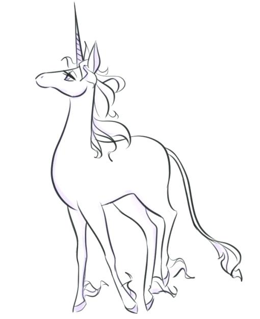 510x626 The Last Unicorn Coloring Pages