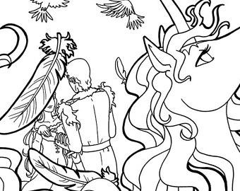 340x270 The Last Unicorn Colouring Page Lady Amalthea Colouring