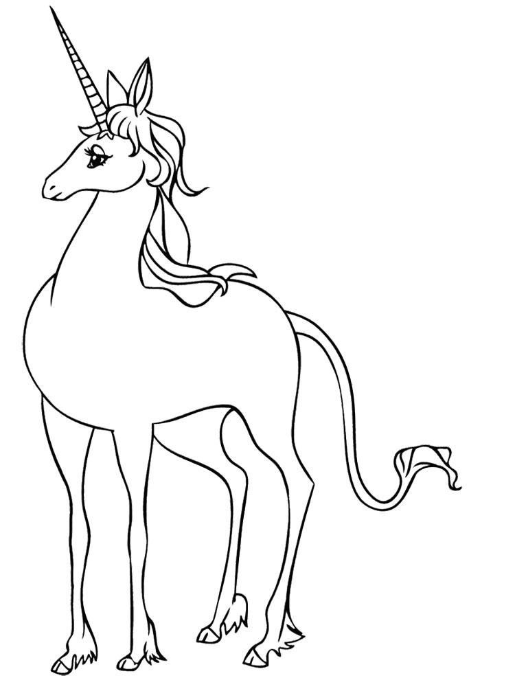 750x987 The Last Unicorn Coloring Pages Awesome Unicorn Coloring Pictures