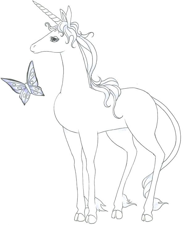 600x730 The Last Unicorn Coloring Pages The Last Unicorn Movie Coloring