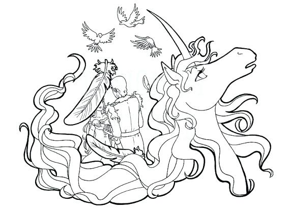 570x413 The Last Unicorn Coloring Pages