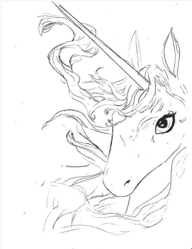 625x809 Or Image Result For Unicorn Coloring Pages A Unicorn Last Unicorn