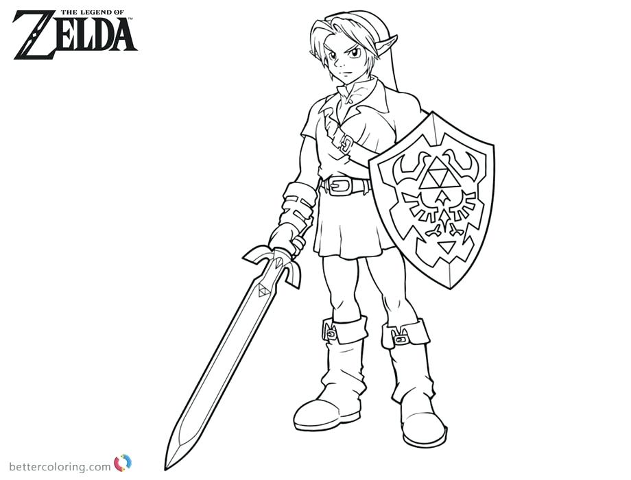 Link from Legend of Zelda coloring page | Free Printable Coloring Pages | 700x920