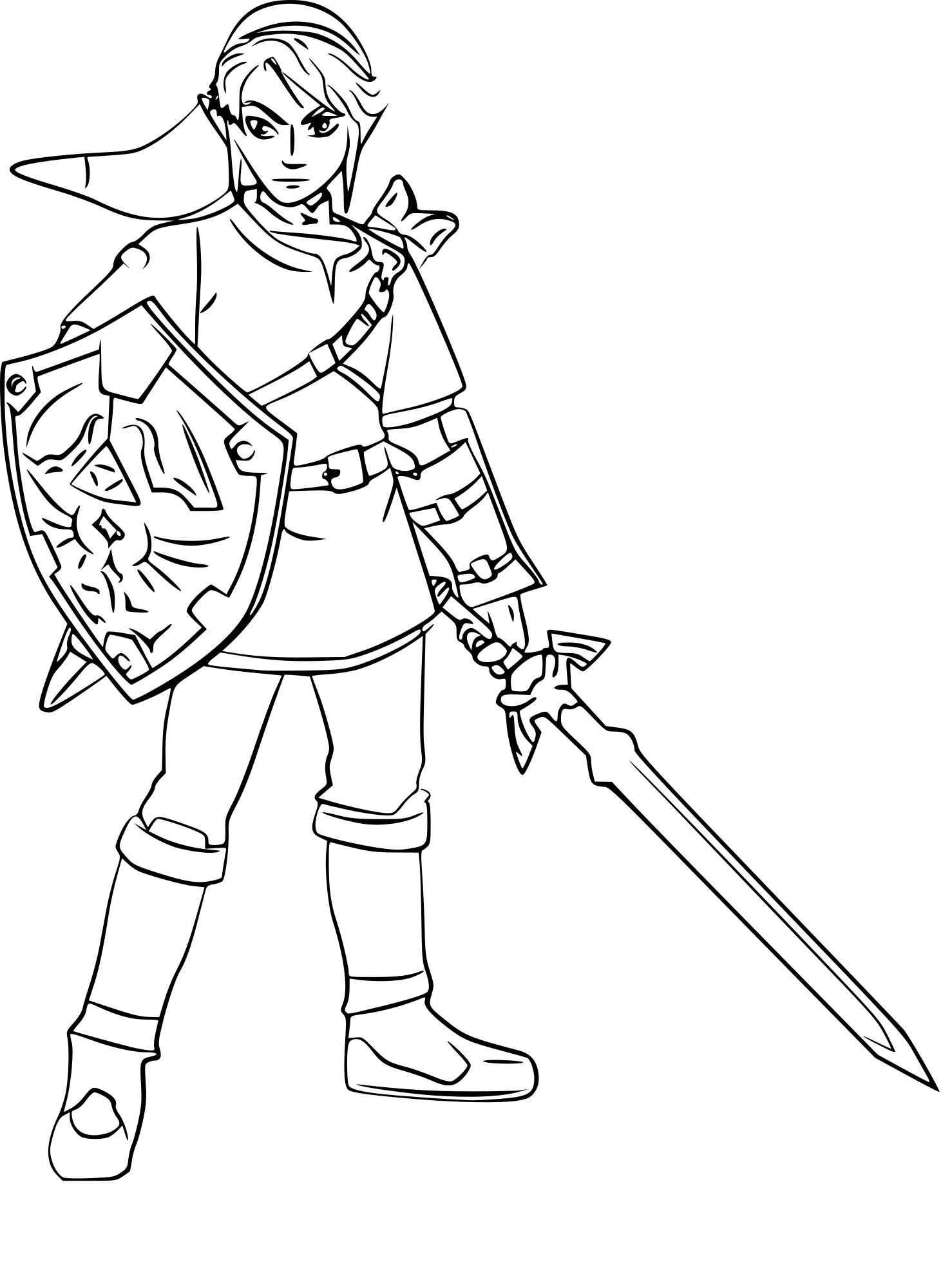The Legend Of Zelda Coloring Pages Free At Getdrawings Com