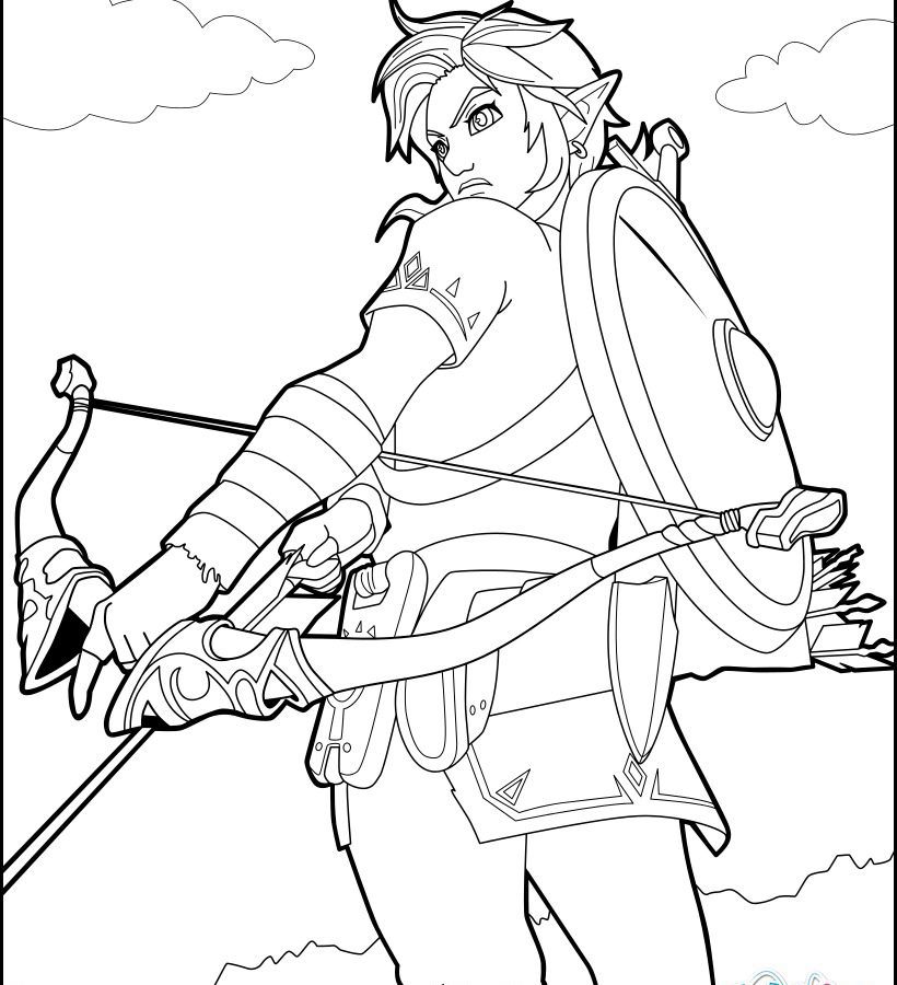 Zelda Breath Of The Wild Coloring Pages - Coloring Pages Kids 2019 | 900x820