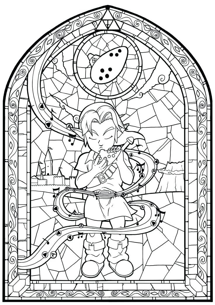 736x1044 Zelda Coloring Pages Captivating Awesome Legend Of Zelda Coloring