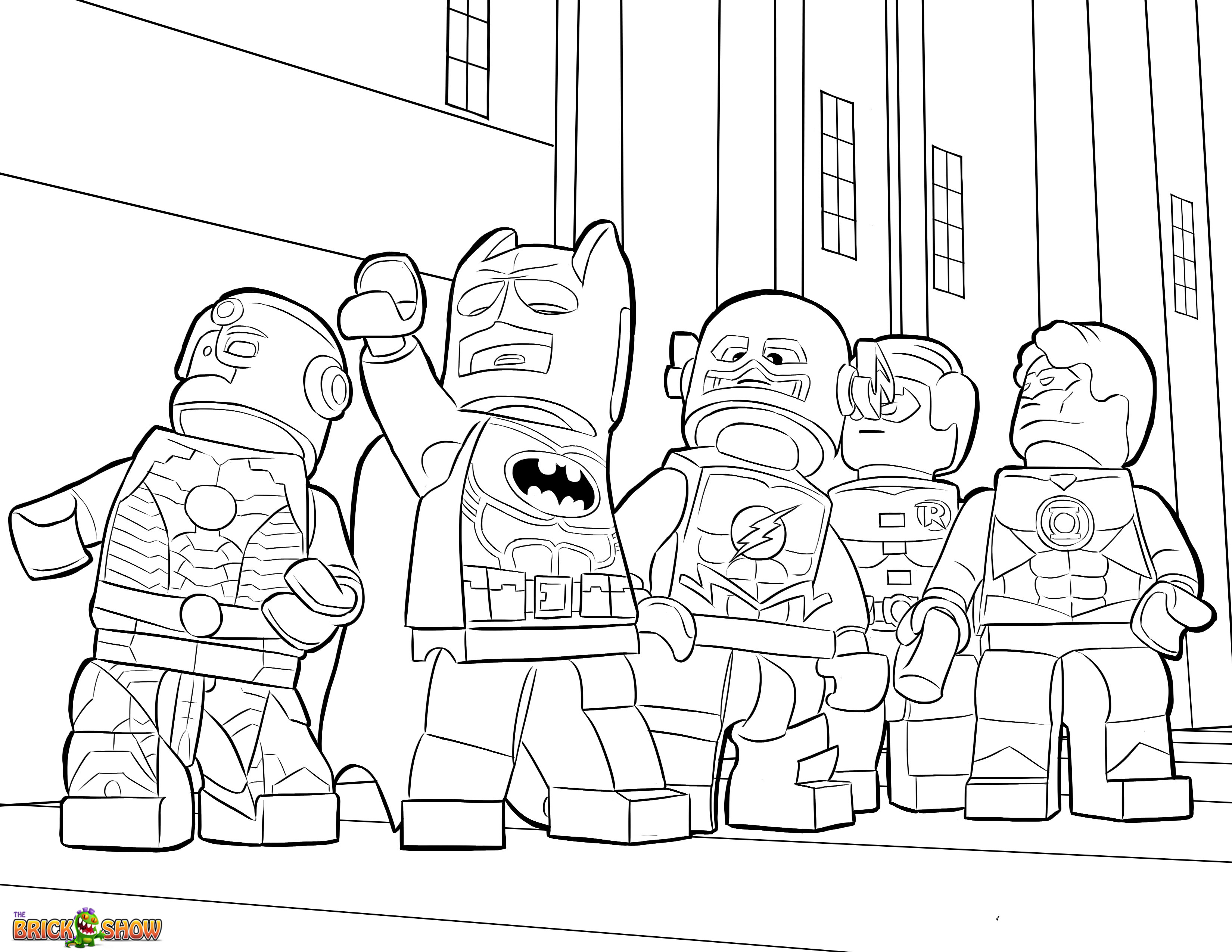 3300x2550 Lego Justice League Coloring Page, Printable Sheet