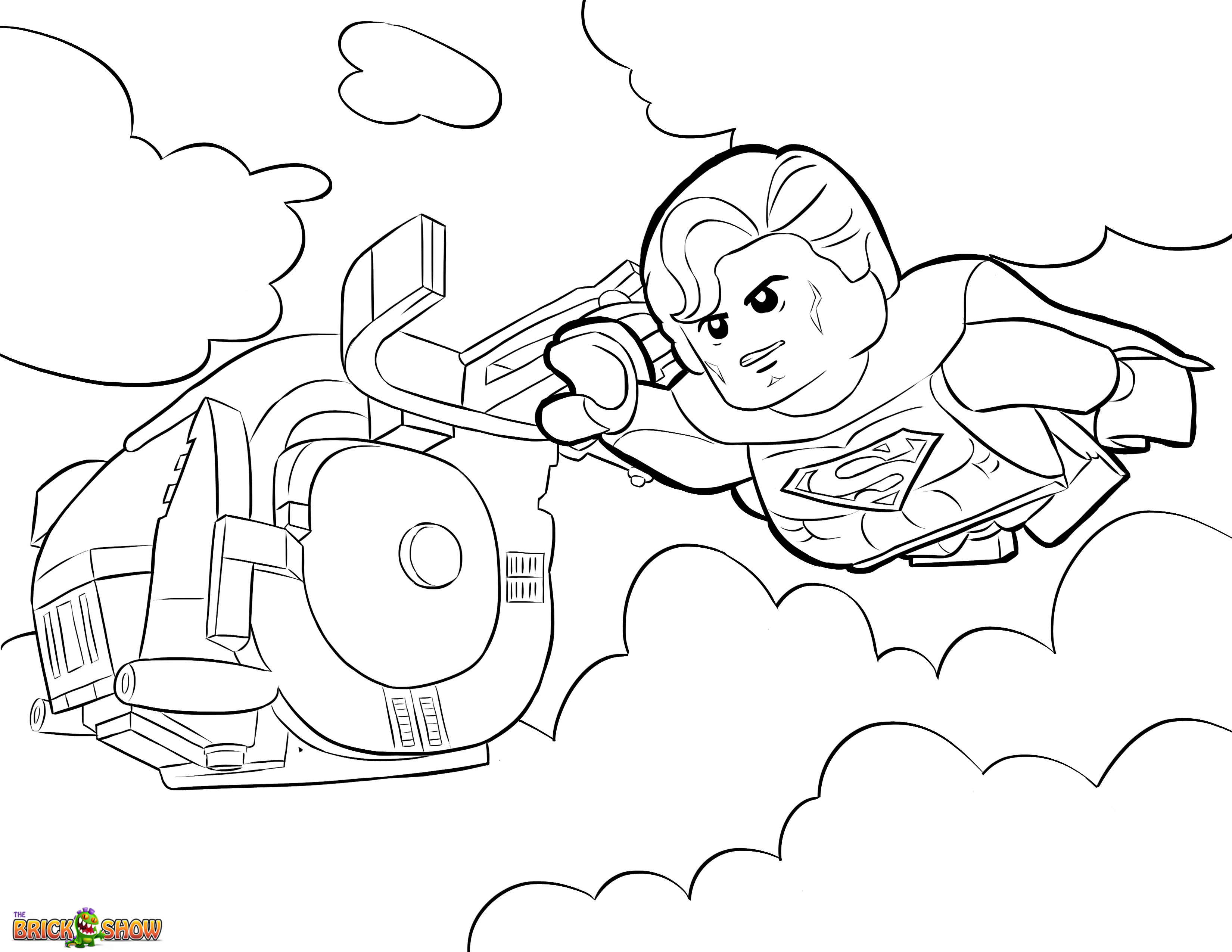 3300x2550 The Lego Movie Coloring Page, Lego Superman Printable Color Sheet