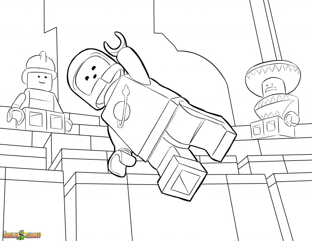 1024x791 Coloring Pages The Lego Movie Coloring Pages Page Printable