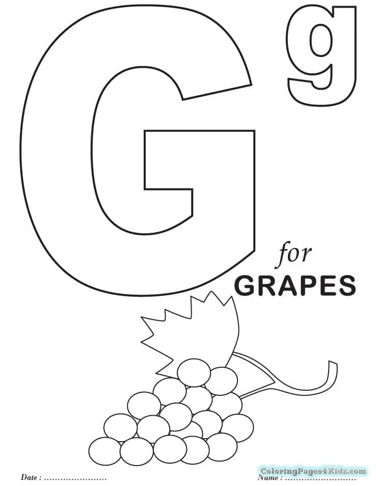 photo about Printable Letter G named The Letter G Coloring Webpages at  Cost-free for