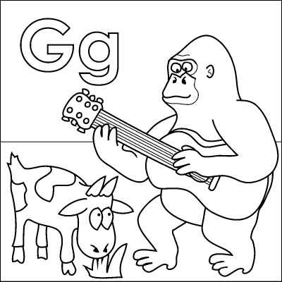 400x400 G Coloring Page Captivating Letter G Coloring Page For Coloring
