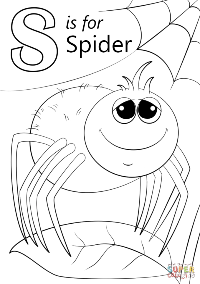 679x960 Get This Letter S Coloring Pages Spider