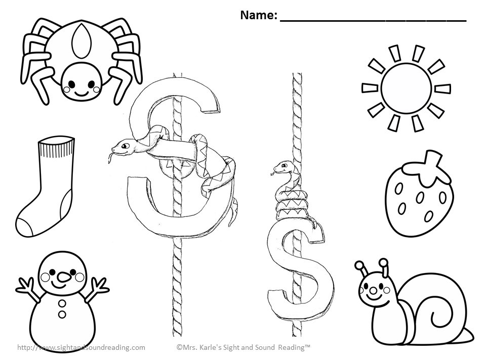 960x720 S Coloring Pages Coloring Pages Letter S Kids Coloring Nursery