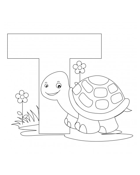 480x600 Letter T Coloring Page Abc Coloring Pages