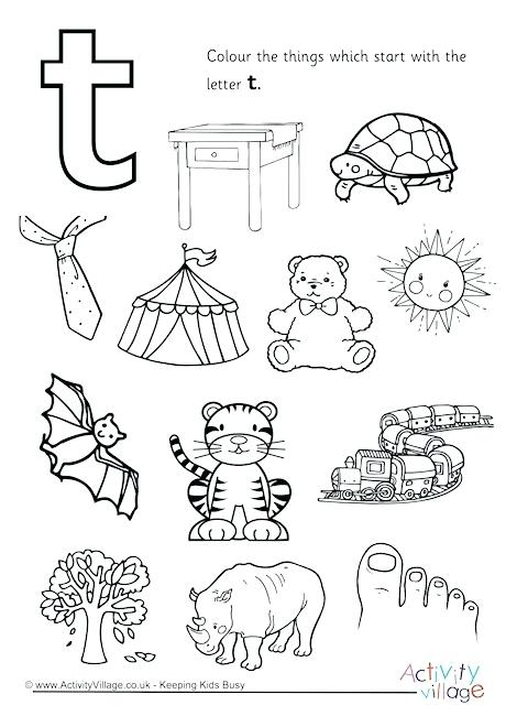 460x650 Letter T Colouring Pages Plus Start With The Letter T Colouring