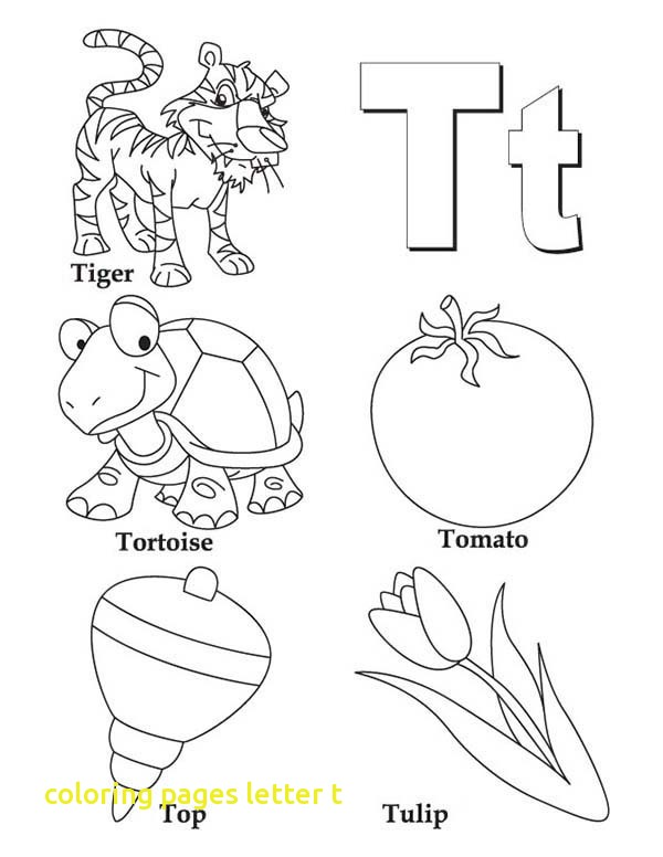 600x776 Coloring Pages Letter T With Letter T Coloring Abc S Free Coloring