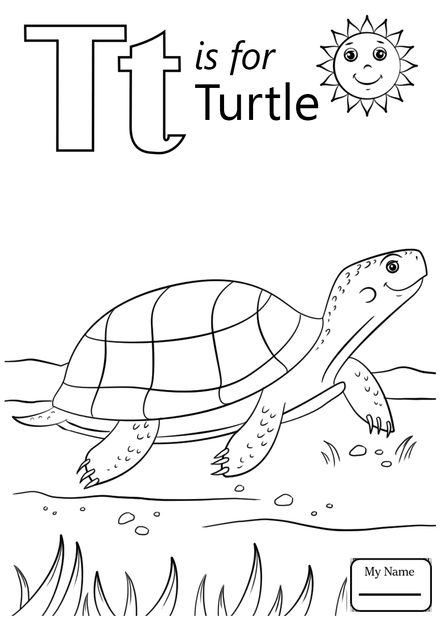 866x1224 The Letter T Coloring Pages