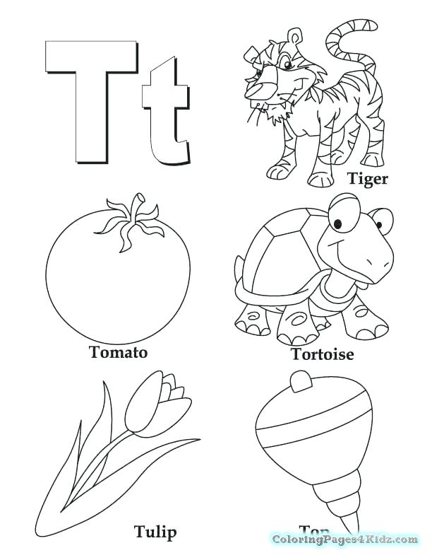 612x792 Letter Coloring Sheets Free Professional
