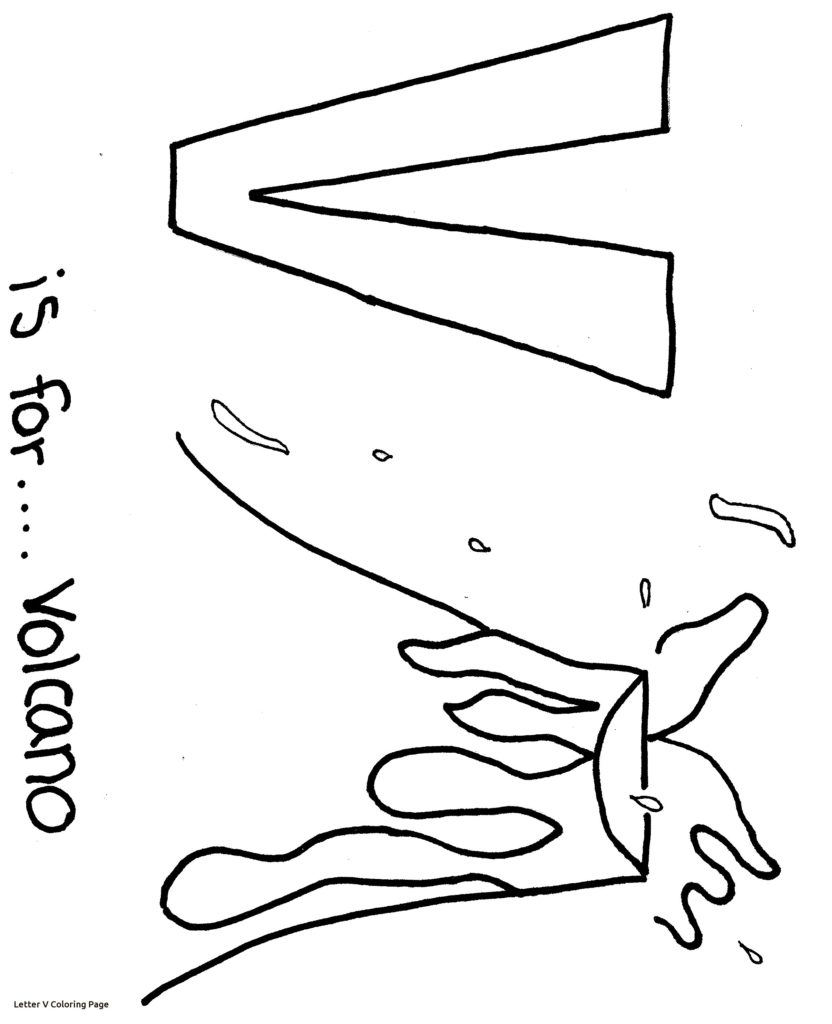 832x1024 Letter V Coloring Pages Get Bubbles