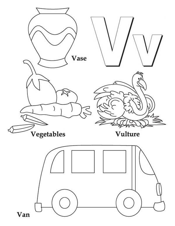 600x776 Letter V Coloring Pages Learning Letter V Coloring Page For Kids