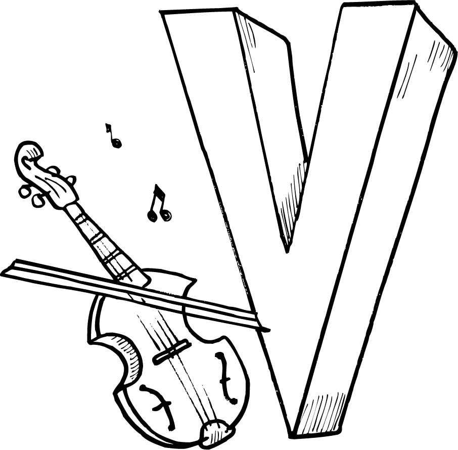 906x890 Letter V Coloring Pages Preschool