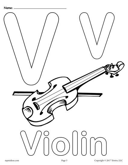 425x550 Letter V Alphabet Coloring Pages