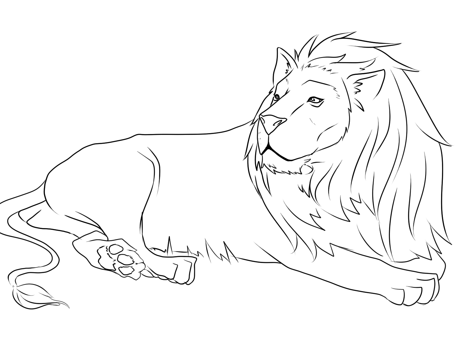 1600x1200 Lion And Mouse Coloring Page Coloring Pages Lion Coloring