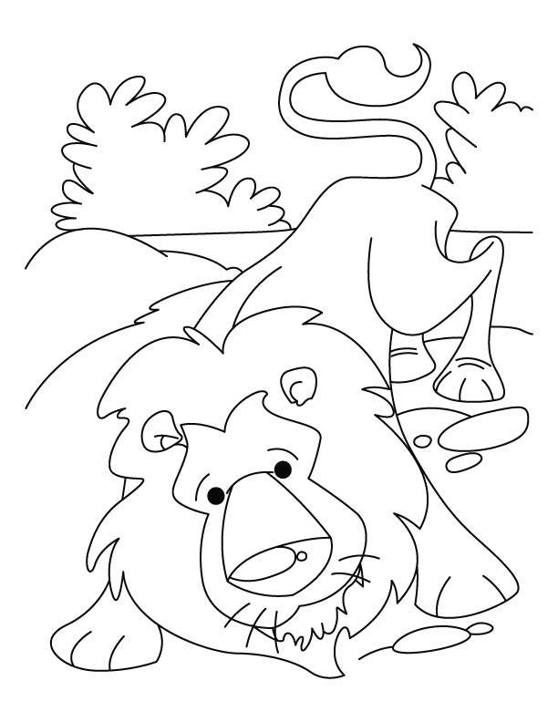 The Lion And The Mouse Coloring Page at GetDrawings com