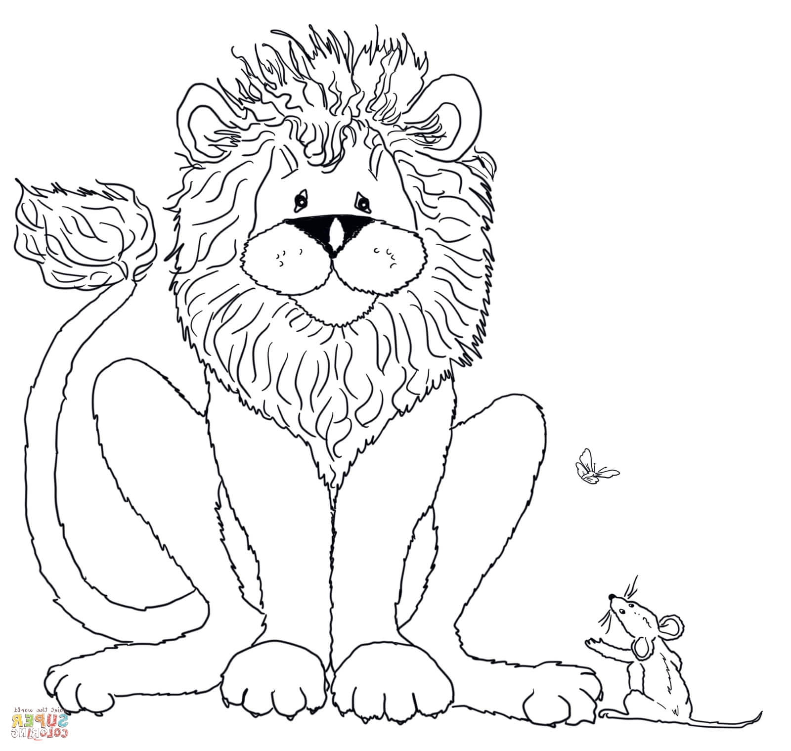 1600x1519 Lion And Mouse Coloring Page The Lion And The Mouse Coloring Pages