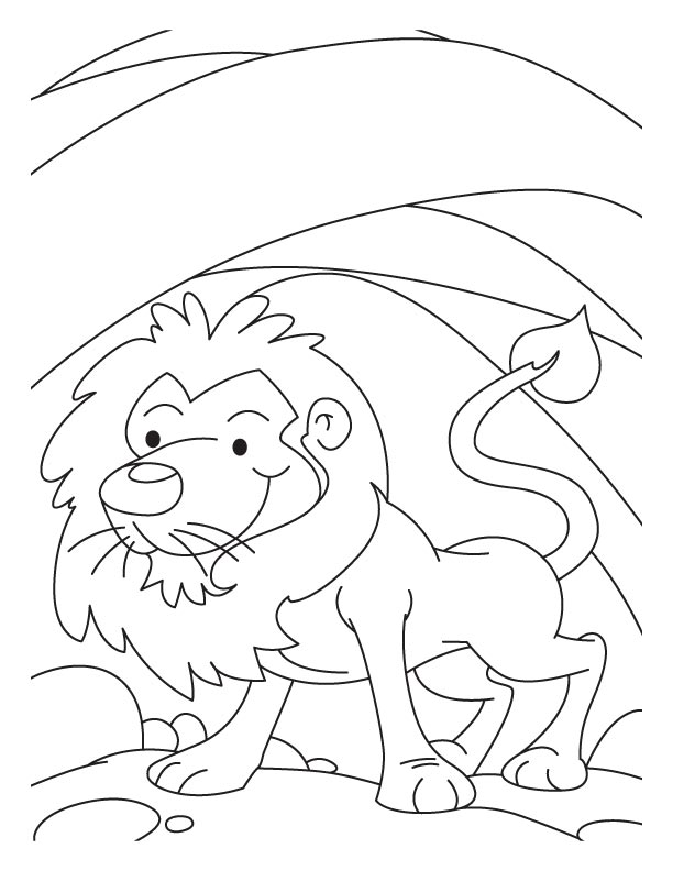 612x792 A Lion In Den Coloring Pages Coloring Pages Lions