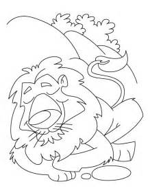 219x284 The Lion And The Mouse Coloring Pages