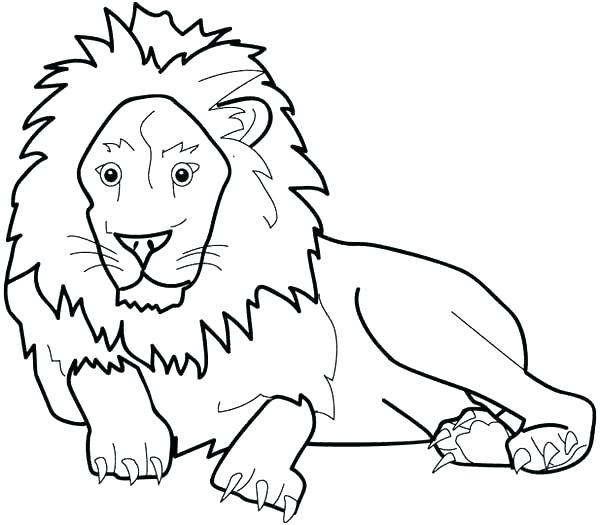 600x525 The Lion And The Mouse Coloring Pages Coloring Page Of A Lion Here