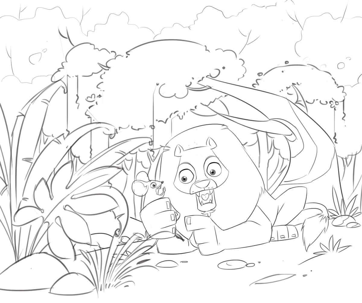 The Lion And The Mouse Coloring Page at GetDrawings | Free ...