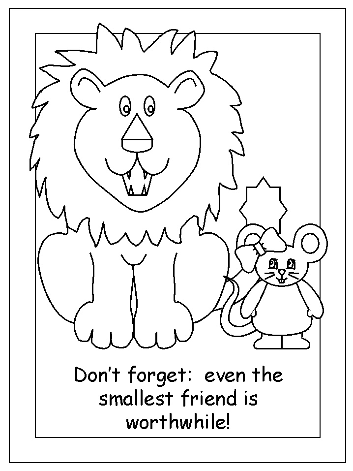 718x957 The Lion The Mouse Coloring Pages Drawn Mice Lion Pencil