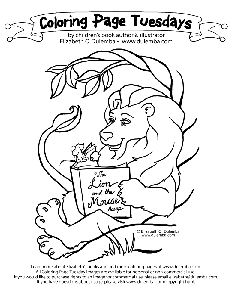 773x1000 The Lion And The Mouse Coloring Pages Dulemba Coloring Page