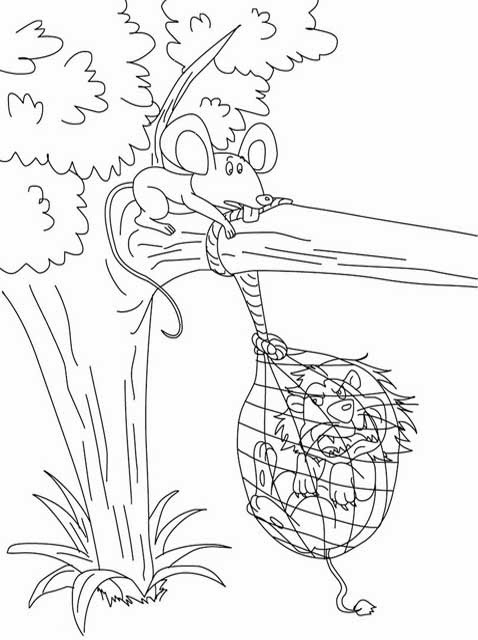 478x640 The Lion And The Mouse Coloring Pages Kids Page Lion And The Mouse