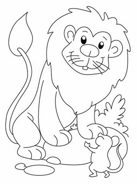 478x640 The Lion And The Mouse Coloring Pages The Lion And The Mouse Story