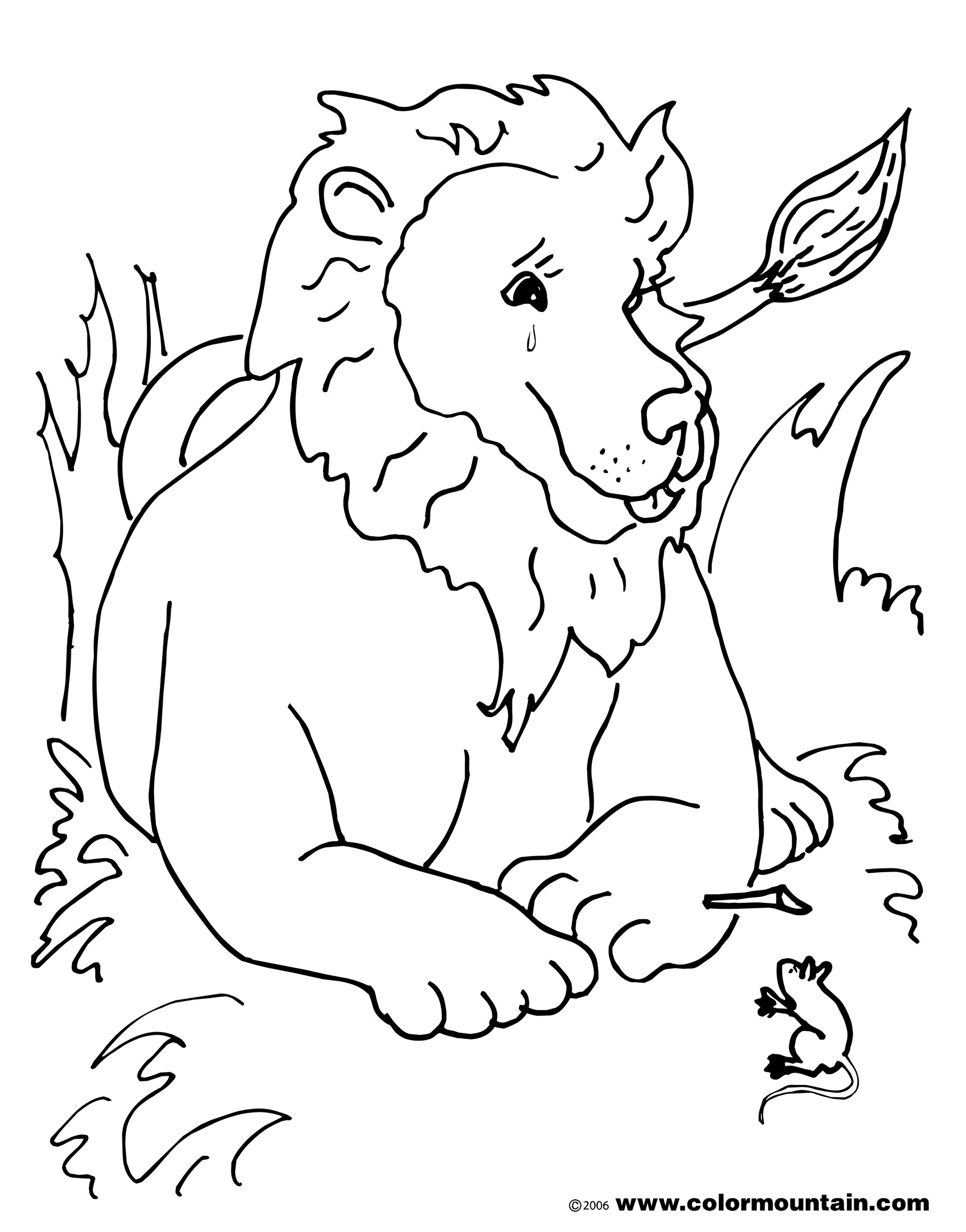 1800x2294 Lion And The Mouse Colouring Pages, Lion And The Mouse Coloring