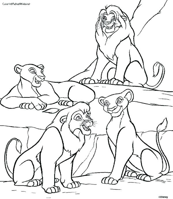 The Lion King 2 Coloring Pages At Getdrawings Com Free For