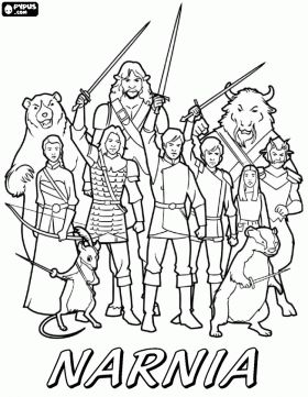 The Lion The Witch And The Wardrobe Coloring Pages