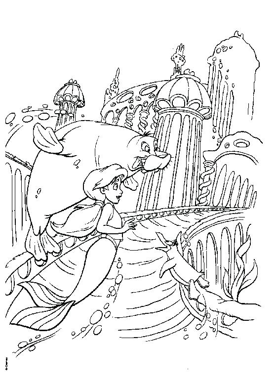 The Little Mermaid 2 Coloring Pages