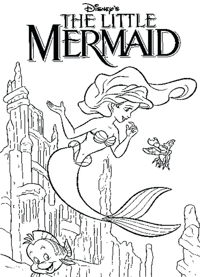 650x900 Coloring Pages Of The Little Mermaid The Little Mermaid Coloring